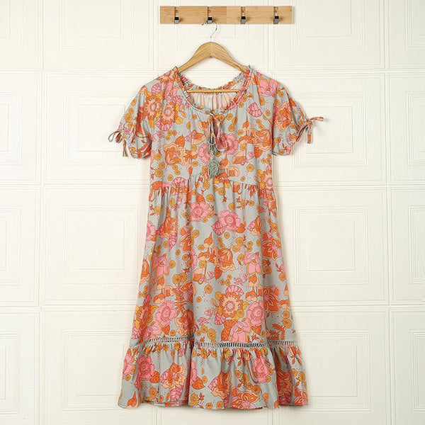 Love Child Floral Print Mini Dress
