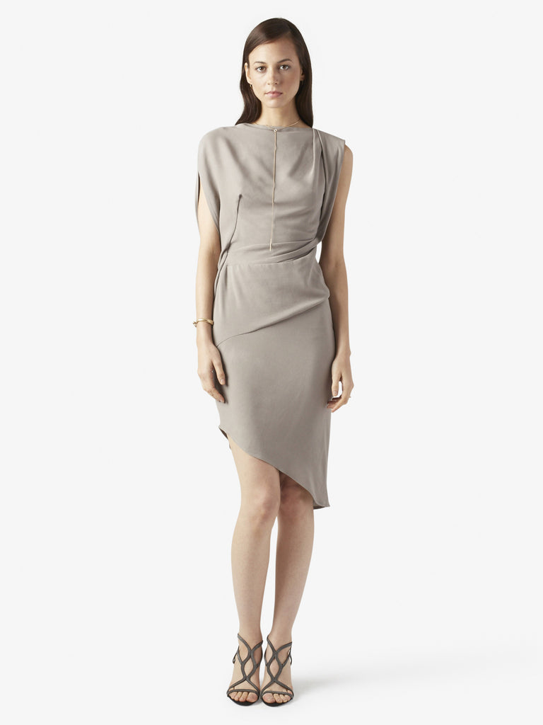 Womens Draped Jersey Dress