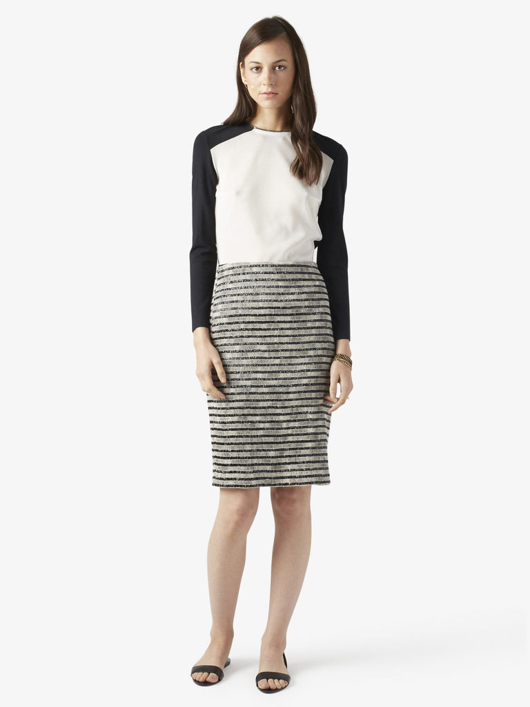 Womens Striped Pencil Skirt
