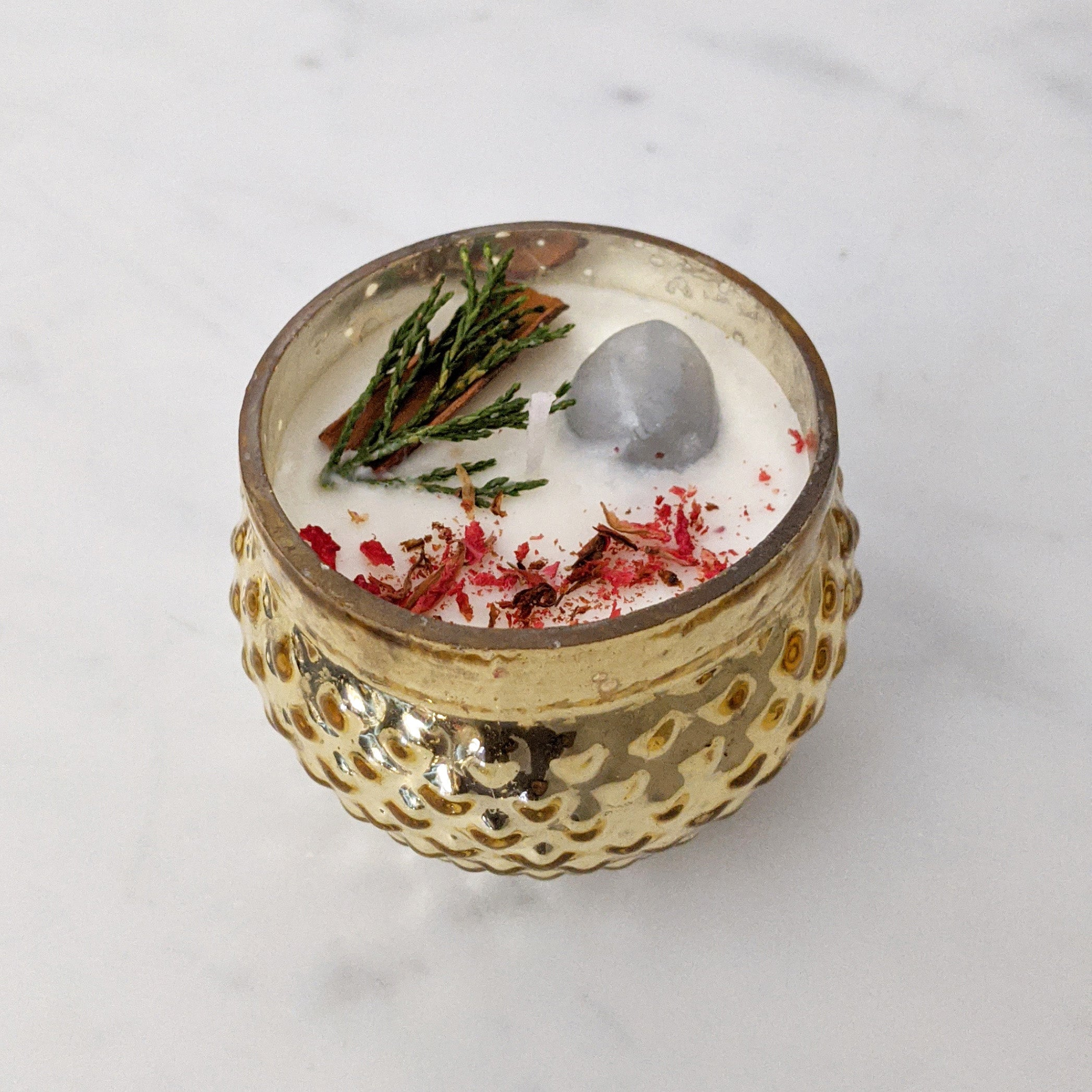 Gold Holiday Temple Candle