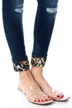 Load image into Gallery viewer, Wild and Free Leopard Patch Kan Can Skinnies