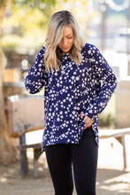 Load image into Gallery viewer, Navy and Daisy Long Sleeve Top