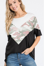 Load image into Gallery viewer, Girls Love To Play Camo Chevron Top
