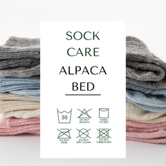 how to care for alpaca bed socks