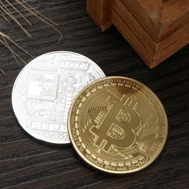 Bitcoin Collectible Gold and Silver Coins