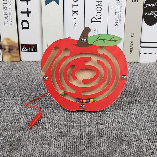 Magnetic-Maze-Educational-Montessori-Toys-For-Kids-Apple