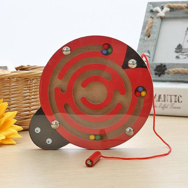 Magnetic-Maze-Educational-Montessori-Toys-For-Kids-Ladybug