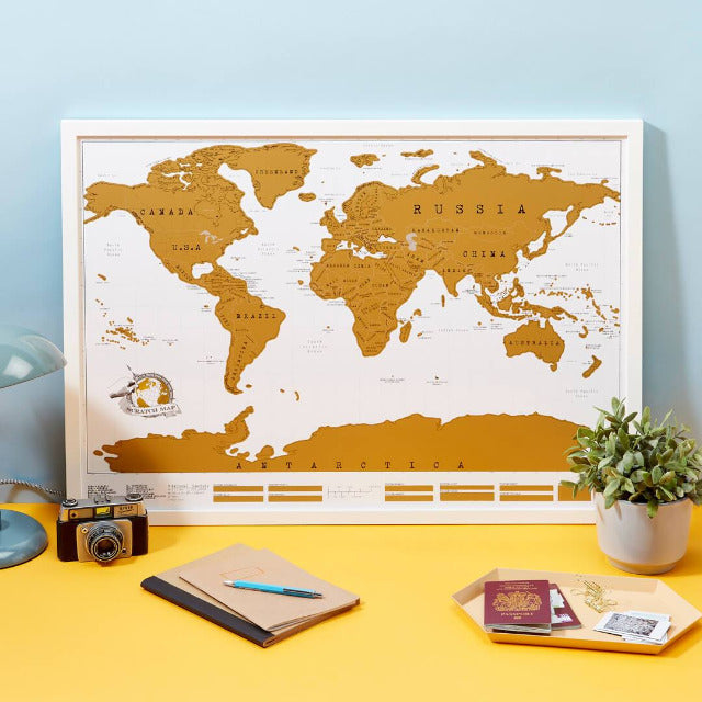 Scratch Map Deluxe Edition World Map For Travelers