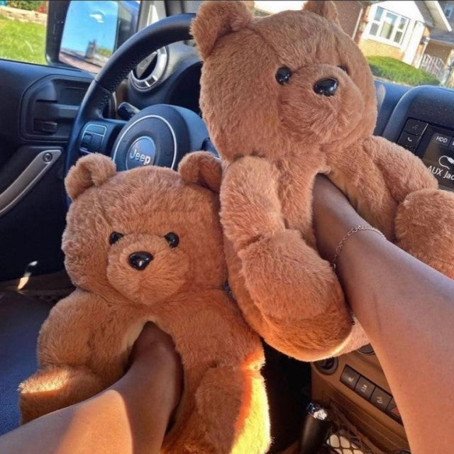 cute-warm-teddy-bear-slippers-for-indoors