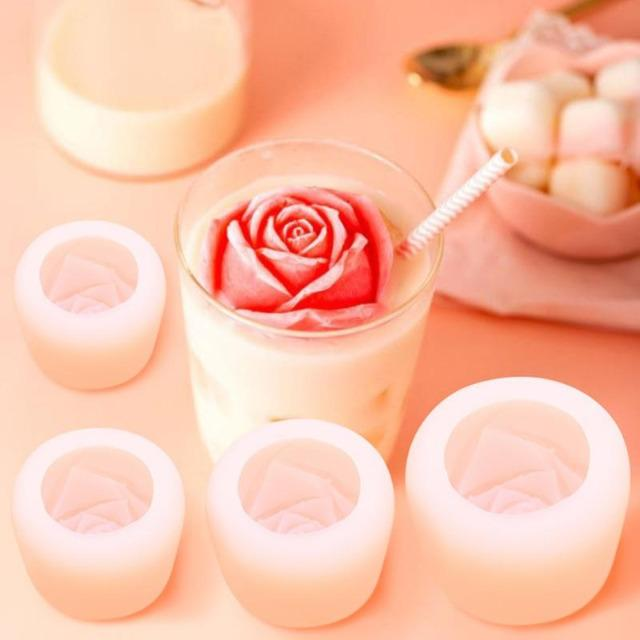 reusable-rose-shape-silicone-ice-cube-moulds