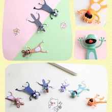 Load image into Gallery viewer, 3D Cartoon Squashed Animal Bookmarks - giftfeedstore
