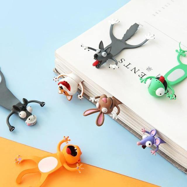 3D Cartoon Squashed Animal Bookmarks - giftfeedstore