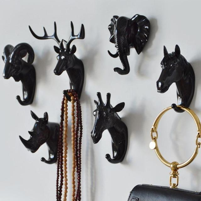 Animal Head Coat Hooks Wall Decor - giftfeedstore
