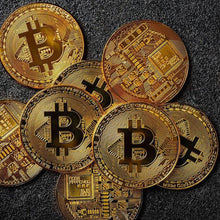 Load image into Gallery viewer, Bitcoin Collectible Gold and Silver Coins - giftfeedstore
