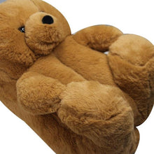 Load image into Gallery viewer, Cute Warm Teddy Bear Slippers For Indoors - giftfeedstore