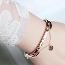 Load image into Gallery viewer, Luxury Rose Gold Charm Bracelet with Love Heart Bangles - giftfeedstore