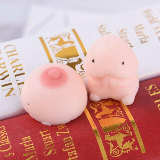 Novelty Squishy Kawaii Dick and Boob Shaped Stress Relief Toys - giftfeedstore