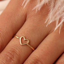 Load image into Gallery viewer, Open Heart Outline Ring for Woman - giftfeedstore