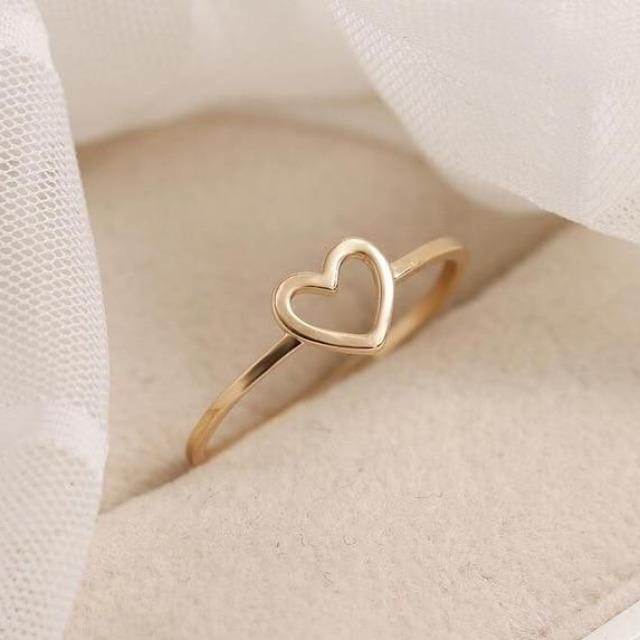 Open Heart Outline Ring for Woman - giftfeedstore