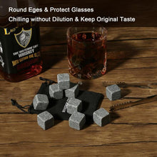 Load image into Gallery viewer, Reusable Ice Cubes Granite Whisky Stones Gifts for Men - giftfeedstore