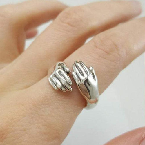 Silver Adjustable Hug Ring For Mom - giftfeedstore
