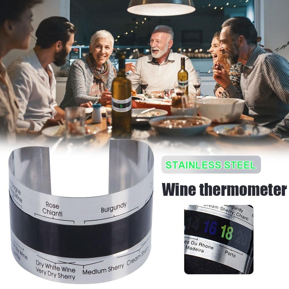Wine Collar Thermometer Clip with LCD Display - giftfeedstore