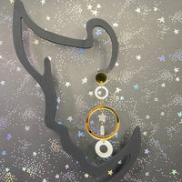 Aurum Moons and Stars Dangles