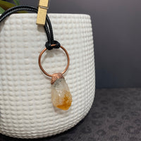 Quartz with Citrine Pendant