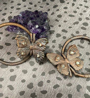 Butterfly Hoop Earrings