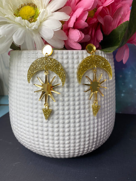 Alnitak - Celestial Dangle Earrings