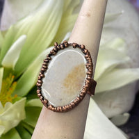 Fossil Coral Ring - Size 6