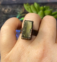 Serpentine Jade Ring - Size 6 1/2