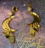 Drippy Moon Dangle Earrings