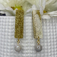 Mintaka - Gemstone Bar Dangles