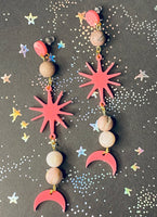 Drawing Down The Moon Dangle Earrings