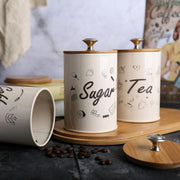 3 Tea Coffee Sugar Kitchen Storage Containers-Friendly Cooks
