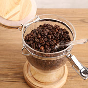 Coffee Bean Jar Oak-Friendly Cooks