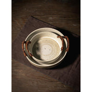 Handmade stoneware Double Ear Plate-Friendly Cooks