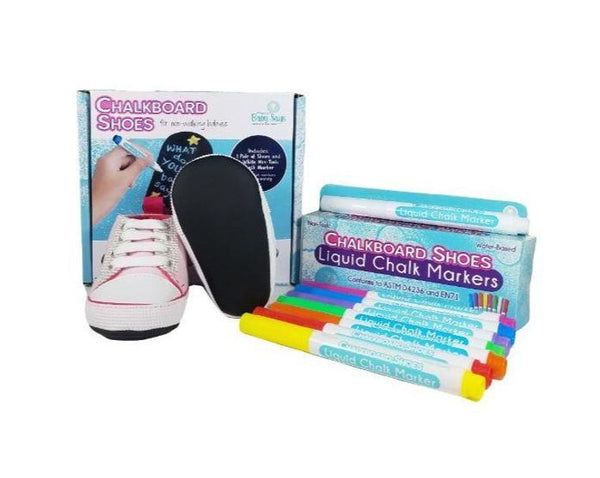 9-12 Month - Baby Says - Pink Sneakers and 8-pack Marker Set