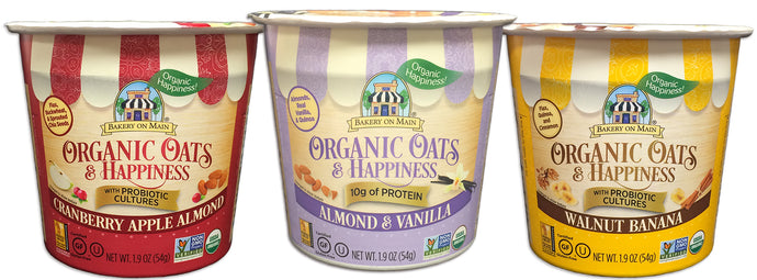 NEW Organic Oats & Happiness Oatmeal Cups