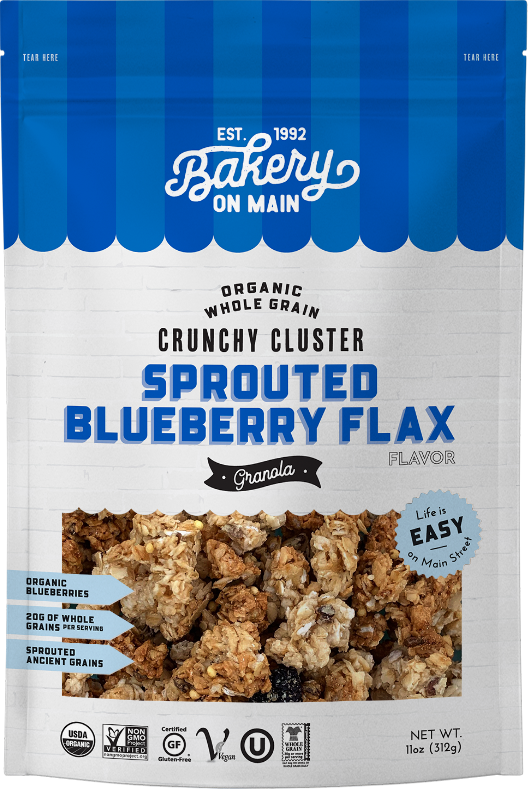 Sprouted Blueberry Flax Granola