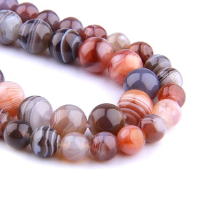 Botswana Agates Round Beads 6 8 mm