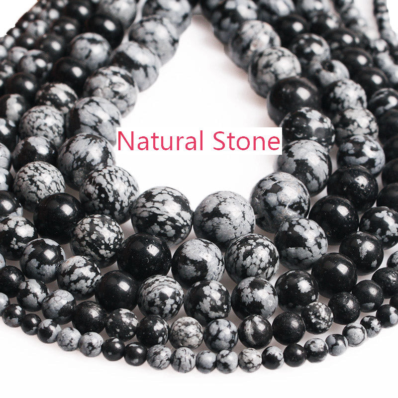 Snowflake Obsidian Round Beads 4 6 8 1012 mm
