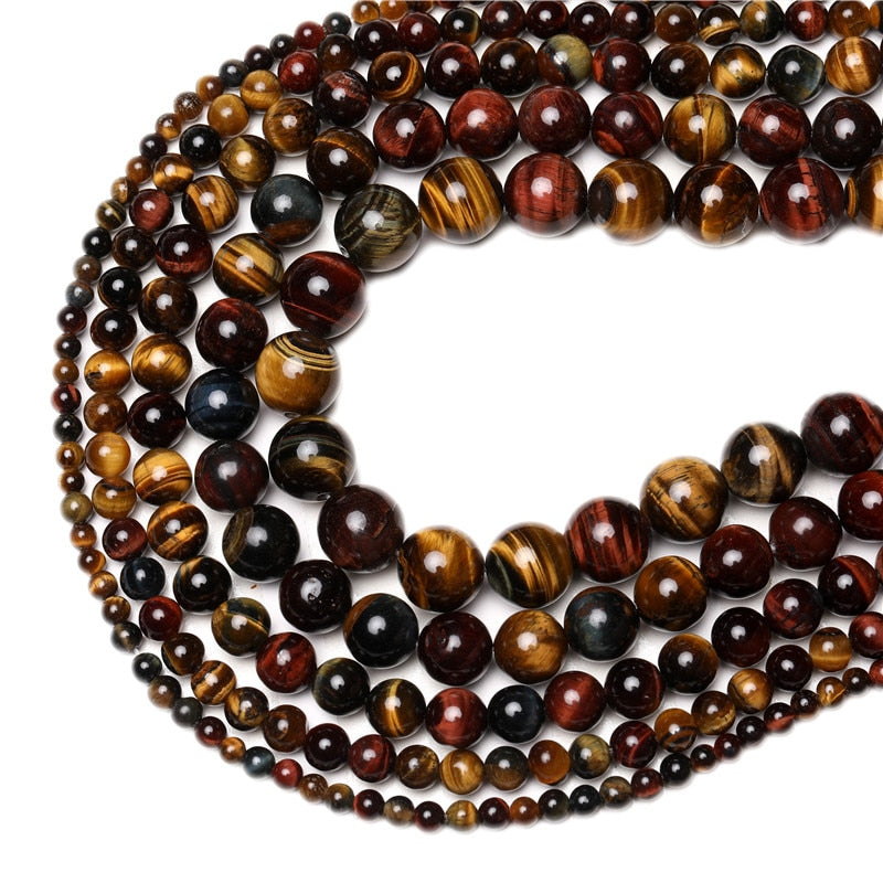 Tiger Eye Round Beads 4-14mm