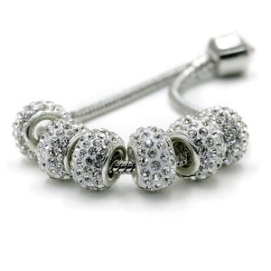 10Pcs Rhinestone Beads Fit For a Charms Bracelet