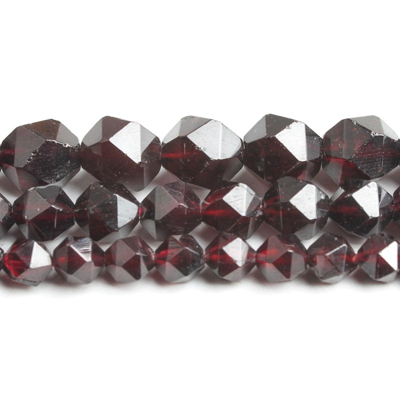 Faceted Dark Red Garnet Beads 15inches 6 8 10mm