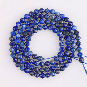 Precious Faceted Lapis Lazuli Beads Sparkling Cut 2/3/4mm