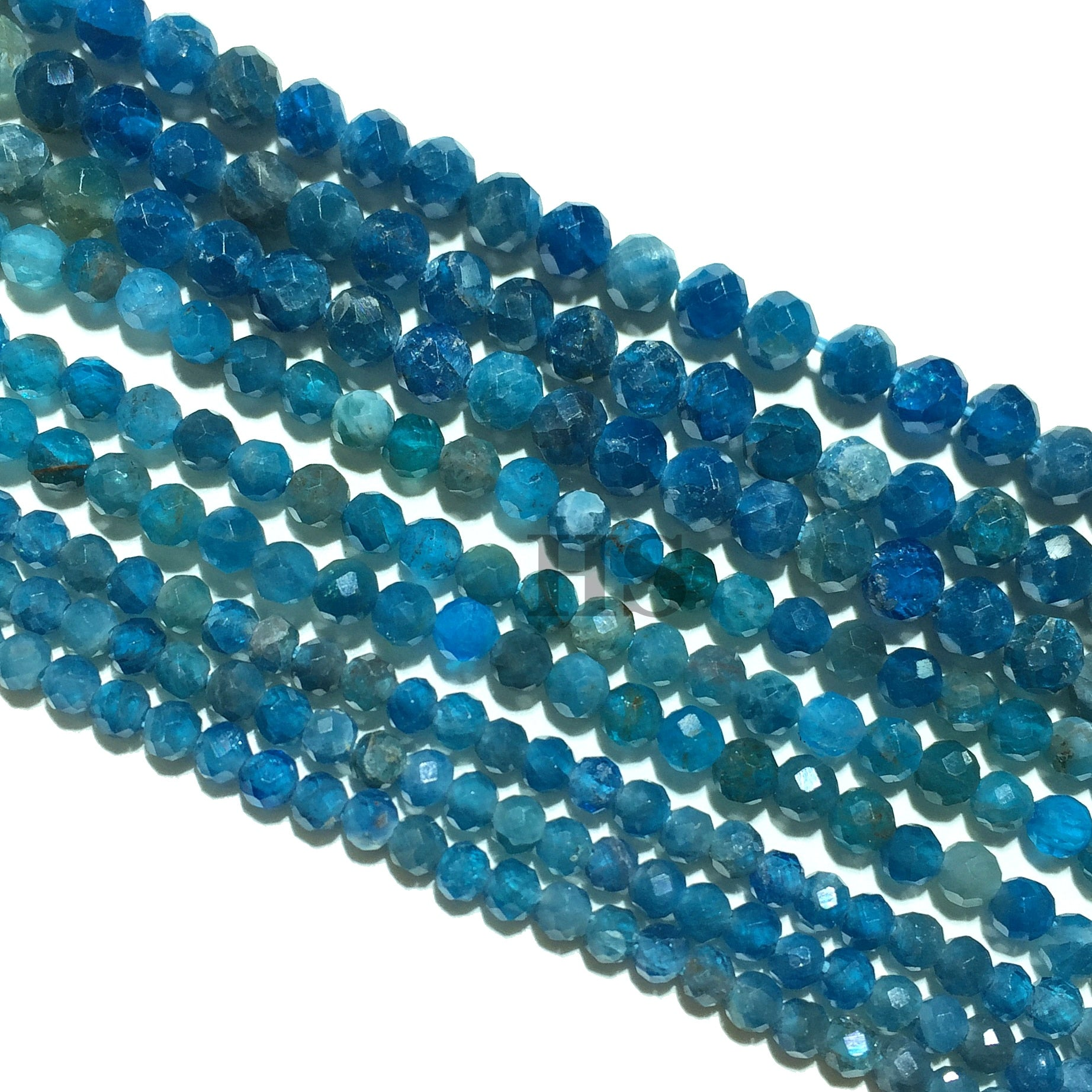 Blue Apatite Small Faceted Beads 2mm 3mm 4mm