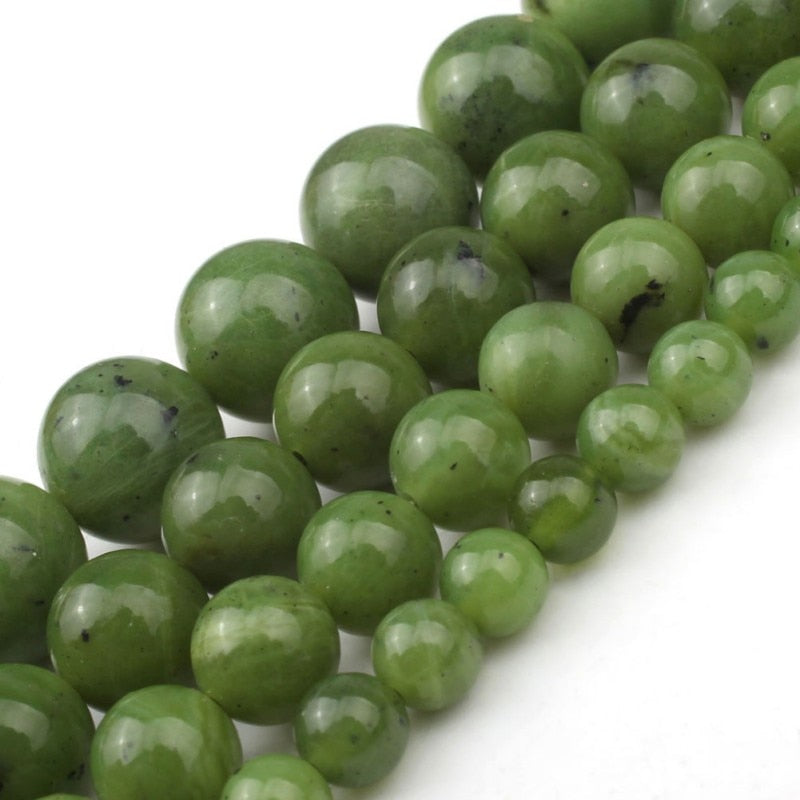 Canadian Jade Beads 6 8 10 12mm