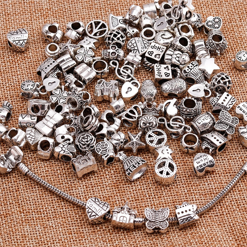 Large Sale Mixed Silver Color Alloy Charms